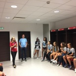 Lyon Select 2017 - Girls listening to the guide in the lockers room - Day 4